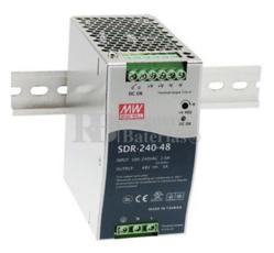 Fuente alimentación 48 Voltios 5 Amperios SDR-240-48