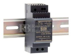 Fuente alimentación 5 Voltios 3 Amperios HDR-30-5
