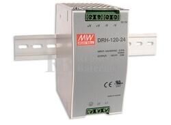 Fuente de Alimentación Carril Din 24 Voltios 5 Amperios DRH-120-24
