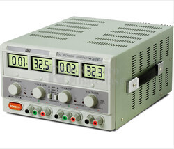 Fuente de alimentacion de Laboratorio Dual Digital Regulable  de 0-30Vcc y 5Vcc Fijo y  0-3 Amperios, 1 Amperio/5Vcc