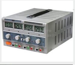 Fuente de alimentacion Dual Digital Regulable de 0 a 30Vcc y 5Vcc fija y de 0 a 5 Amperios, 1 Amperio/5Vcc