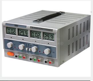 Fuente de alimentacion Dual Digital Regulable de 0 a 30Vcc y 5Vcc fija y de 0 a 5 Amperios, 1 Amperio-5Vcc