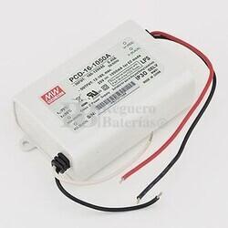 Fuente de Alimentaci�n para iluminaci�n Led de interior 12-16 voltios 16,8 watios PCD-16-1050A entrada de 90 a 135VCA