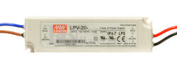 Fuente de Alimentación para iluminación Led de interior 15 voltios 20 watios LPV-20-15