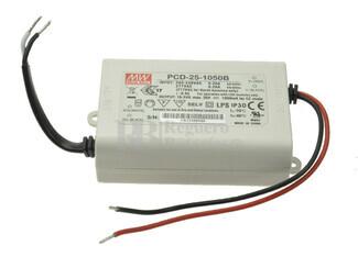 Fuente de Alimentación para iluminación Led de interior 16-24 voltios 25.2 watios PCD-25-1050B entrada de 180 a 295VCA