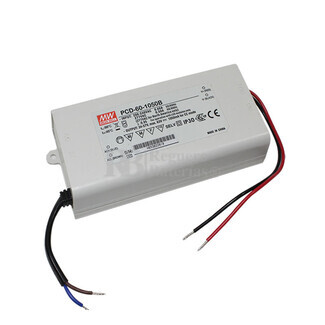 Fuente de Alimentaci�n para iluminaci�n Led de interior 20-34 voltios 59.5 watios PCD-60-1750B