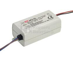 Fuente de Alimentaci�n para iluminaci�n Led de interior 24 voltios 12 watios 0.5 amperios APV-12-24