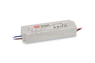 Fuente de Alimentación para iluminación Led de interior 24 voltios 60 watios LPV-60-24