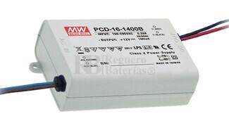 Fuente de Alimentación para iluminación Led de interior 8-12 voltios 16,8 watios PCD-16-1400B entrada de 180 a 295VCA