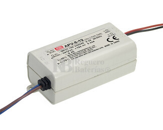 Fuente de Alimentaci�n para iluminaci�n Led de interior 24 voltios 8 watios 0.34 amperios APV-8-24