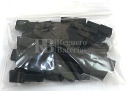 Funda conector faston hembra 6.35 mm negra ( Bolsa 100 Unidades )