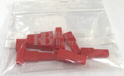 Funda conector faston hembra 6.35 mm roja ( 10 Unidades )