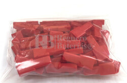 Funda conector faston hembra 6.35 mm roja ( 100 Unidades )