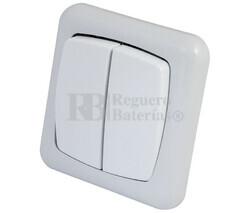 Interruptor dual para empotrar serie Elegance