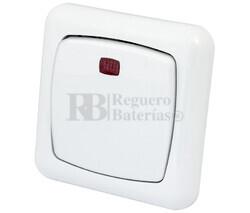 Interruptor empotrar con indicador luminoso serie Elegance