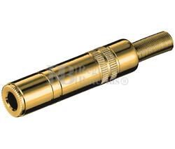 Jack hembra estéreo de 6.3mm dorado