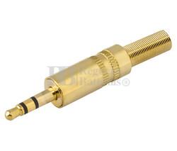 Jack macho estéreo 3.5mm dorado