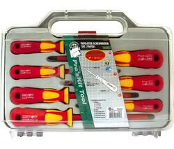 Juego de 7 destornilladores aislados DIN 1.000V Proskit SD-8011
