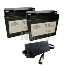 Kit baterías Litio 24 Voltios 18 Amperios y Cargador 24V