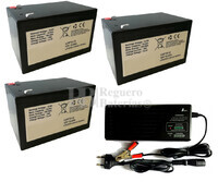 Kit baterías Litio para 36 Voltios 15 Amperios y Cargador 36V
