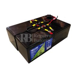 kit baterías 48 Voltios 14 Amperios C/Cables HG12-14EV