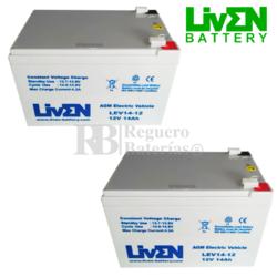 Kit baterías Silla de Ruedas 24 voltios 14 Amperios