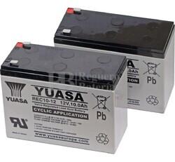 Baterias 24 Voltios 10 Amperios para Vehículos Eléctricos REC10-12