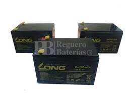 Kit baterías 36 voltios 12 Amperios vehículos Eléctricos WP12-12
