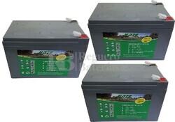 Kit 36 Voltios 12 Amperios de Gel EV12-12 para Vehículos Eléctricos