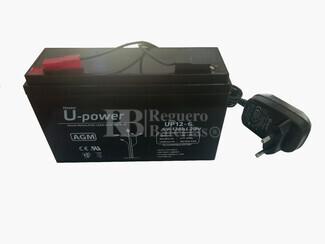 Kit de Batería 6 Voltios 12 Amperios y Cargador 6 Voltios 0,8 Amperios