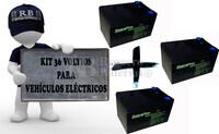 Kit de Baterías 36 Voltios 12 Amperios Alta descarga para Vehículos Eléctricos