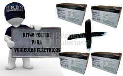 Kit de baterías 48 Voltios 12 Amperios Movilidad