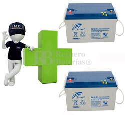 Kit de baterias de reemplazo para silla de ruedas en 12 voltios 65 amperios GEL Ritar DG12-65