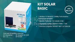 Kit Solar Fotovoltaico Basico 600WH/Dia