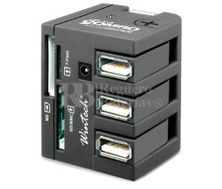 Lector de tarjetas universal con 3 puertos USB 2.0