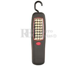 Linterna de 24 LED con imán y gancho giratorio 360º