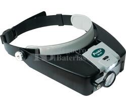 Lupa Diadema ajustable, 3 lentes y luz