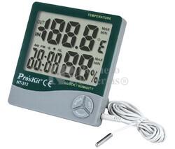 Medidor de temperatura y humedad ambiental interior/exterior Proskit NT-312
