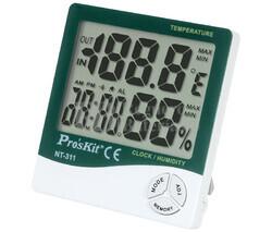 Medidor de temperatura y humedad ambiental para interior Proskit NT-311