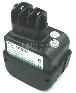 Bateria para Metabo BE AT 7.2-2 R+L 6.30069-1,4Ah, 6.31677-1,7Ah 1.900MAH