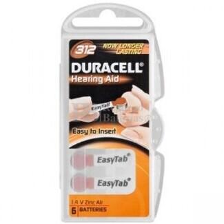 Pila de Audifono DA312 Duracell  (Blister de 6 Pilas )