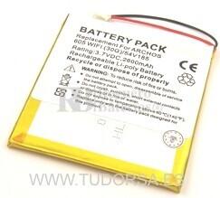 Bateria para Archos 605 WiFi 30GB - 2.600 mAh