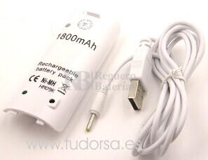Nintendo Wii Controller con USB-cable para cargar