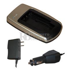 Cargador para baterias Olympus LI10/12, Minolta NP200, Sanyo DB-L10