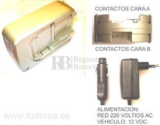 Cargador multiple para baterías de cámaras y videocamaras CASIO, FUJI, KODAK