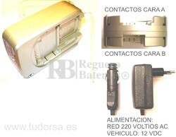 Cargador multiple para bater�as de c�maras y videocamaras PENTAX, RICOH, SAMSUNG