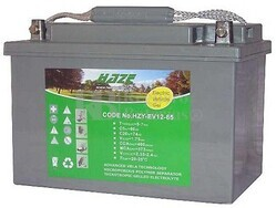 Bateria de Gel para Silla de Ruedas Eléctrica en 12 Voltios 65 Amperios HAZE EV12-65