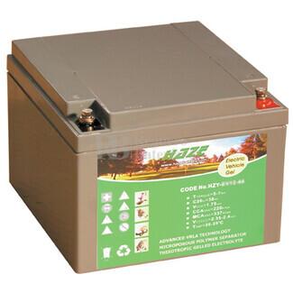 Batería GEL para Scooter Eléctrico 12 Voltios 26 Amperios Haze