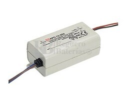 Fuente de alimentación para bombillas led 9-18V 700 mAh 250mV APC-12-700 Mean Well