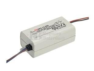 Fuente de alimentación para bombillas led 9-18V 700 mAh 250mV APC-12-700 Mean Well